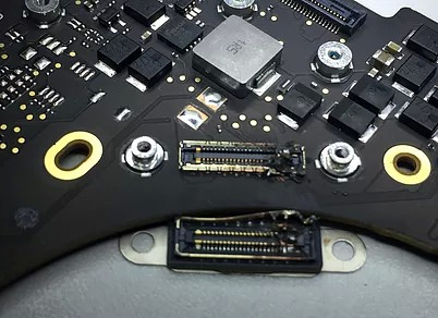 burned lifeboat connector on A1706 logic board