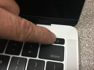 spilled water on macbook - force shut down the macbook