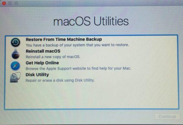 mac question mark folder - reinstall macOS