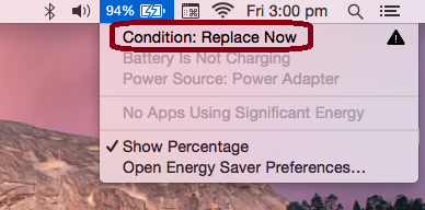 MacBook battery not charging - Battery replace now