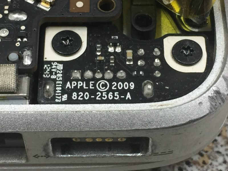 MacBook battery not charging - faulty diode on DC board