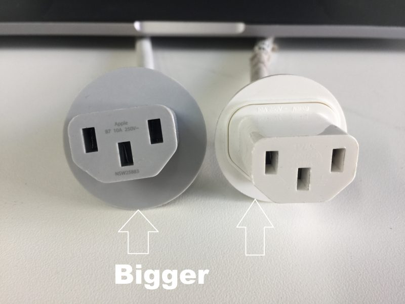 Size-difference-between-iMac-power-cables-of-2015-and-2011